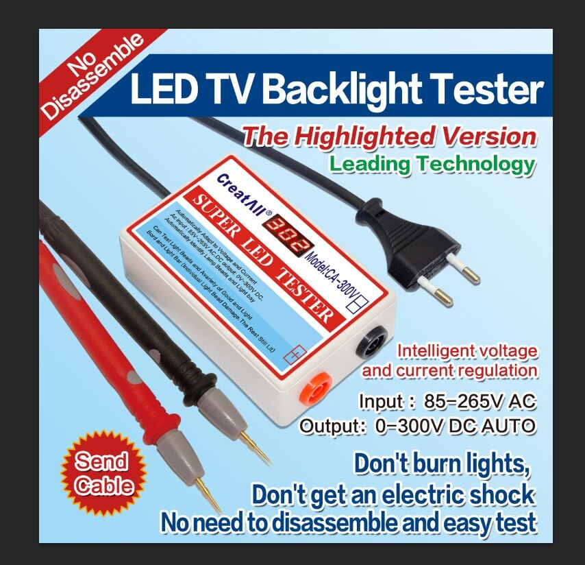цена на LED Strips TV Monitor Laptop Backlight Lamp Tester LED Beads Detect Tool Tester tool EURO PLug