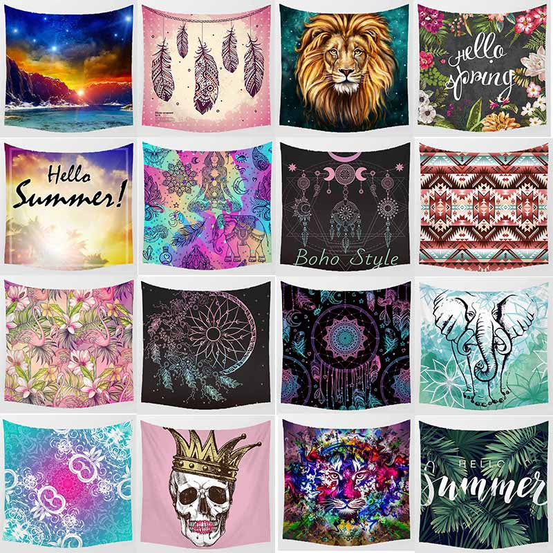 Hot sale mandala flowers animal large tapestry high definition printing wall hanging tapestry home decoration wall tapestry in Tapestry from Home Garden