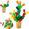 Prickly Pear Cactus Wooden Mosaic 3D Puzzle Early Childhood Educational Assembling Demolition Toys