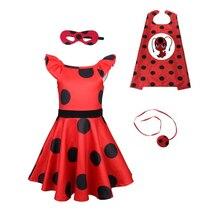 Carnival cosplay 2019 Ladybug Halloween baby Girls Costume Christmas Dress Hot kids dresses for girls