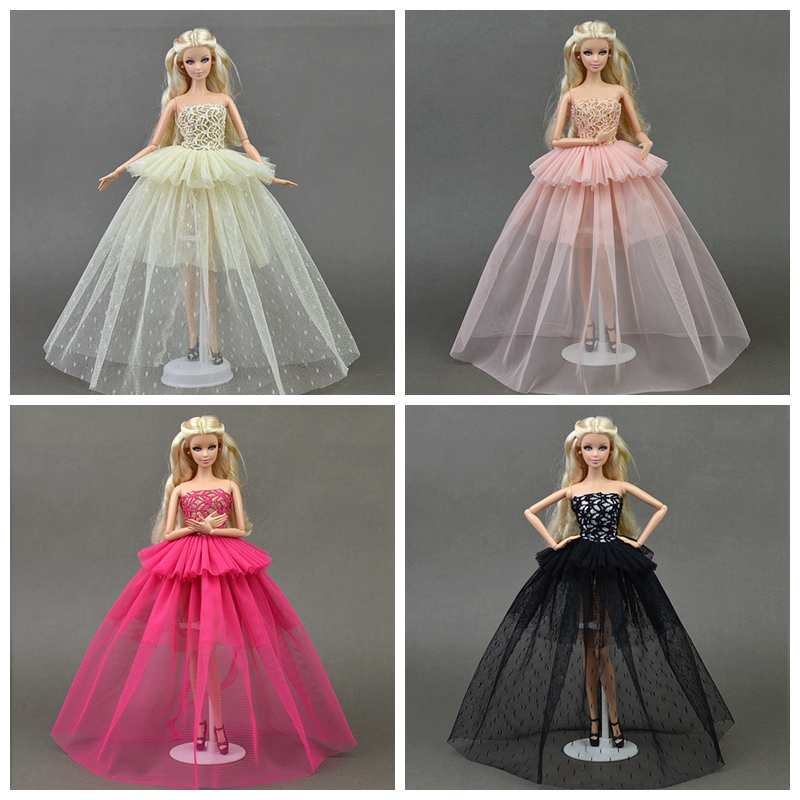 Doll Clothes For Barbie Princess Wedding Dress Noble Party Gown For Barbie Doll Fashion Design Outfit Best Gift For Girl' Doll leadingstar 2017 new wedding bridal dress princess gown evening party dress doll clothes fit for barbie doll for kids gift zk30