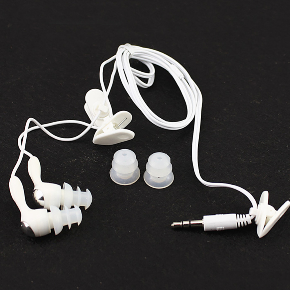 The new stereo waterproof earbud Earphone In-ear earphone Swimming sport earplugs for  mp3 mp4 most smart cell phone mymei best price new portable 3 5mm pillow speaker for mp3 mp4 cd ipod phone white