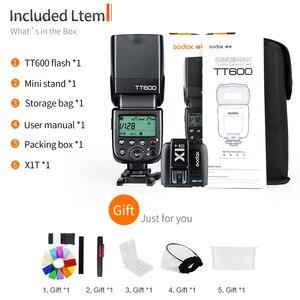 Image 2 - Godox TT600 2.4G كاميرا لا سلكية فلاش Speedlite + X1T C/N/F الارسال اللاسلكية فلاش الزناد