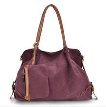 Moda 3 unids/set Compuesta Lienzo llanura bolsa de lona bolsa de Hombro de La Manera bolsas
