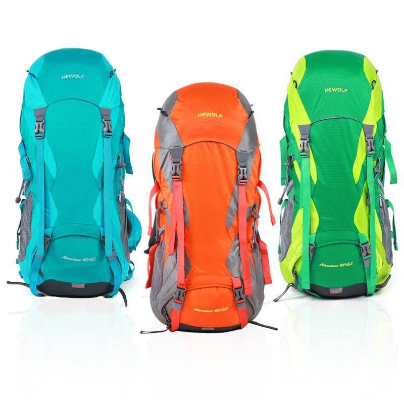 2018 new outdoor 50L climb bag waterproof Nylon resistant fabric bag ultralight camp hike dry drifting kayak swim bag Backpack