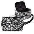 Bolsa de Herramientas de Pelo profesional Zebra Diseño de Peluquería Caja de Herramientas Portátil de Herramientas de Peinado Del Cabello/pincel/Pinza de pelo almacenamiento