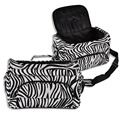 Professional Hair Tool Bag Zebra Design Hairdressing Salon Portable Tool Case for Hair Styling Tools/pincel/hair Clip Storage