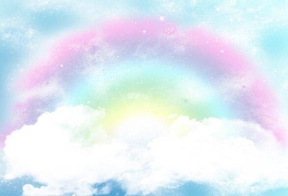Детский фон с радугой