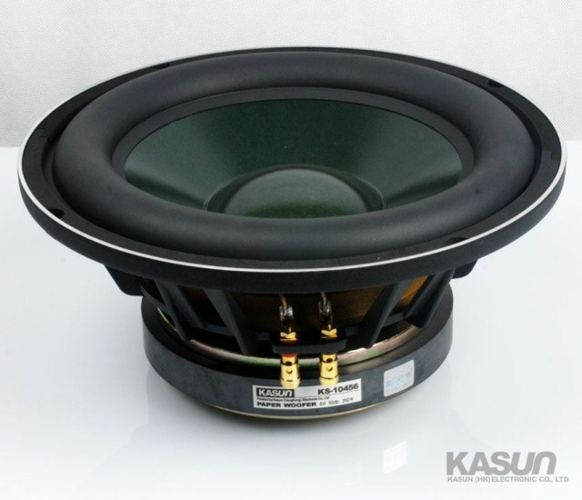 1PCS Kasun KS-10456 10'' Subwoofer Speaker Driver Unit Casting Aluminum Basket Massive Rubber Surround Fs=32Hz 8ohm 250W D260mm