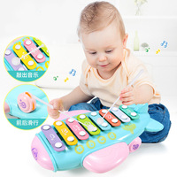 Baby Colorful Glockenspiel Xylophone Percussion Musical Instrument Educational Toy 8 Tone Baby Music Learning New Toys 2018