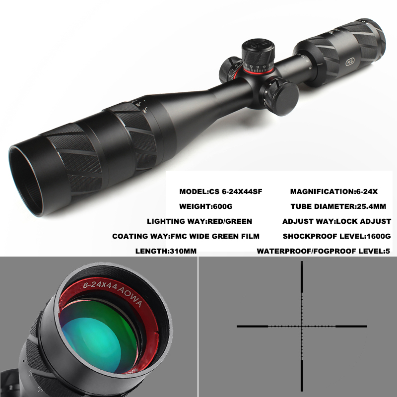 Hot New Brand Optical Sight 4-16X44 Riflescope Hunting Scope Sight Hunting Optics Red Dot Chasse Aim Hunting Optics Rifle Scope
