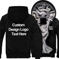 Customized Eagle Personally Hoodies Zipper Fleece Unisex Thicken Coat