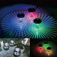 Светодиодный диско-свет плавательный бассейн Водонепроницаемый светодиодный солнечный Мощность многократно Меняющие цвет водные плавучие лампы с плавающей свет безопасности; Прямая поставка