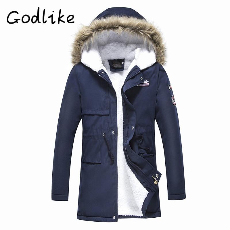 GODLIKE Téli férfi párnázott kabát, ifjúsági szabadidő - Férfi ruházat