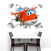 Toys Stickers Super Wings Anime Sticker Removable 90*60cm PVC Sticker For Children Room For children Birthday Present