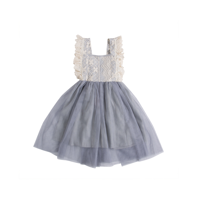 2017 Newborn Infant Baby Girls Casual Lovely Sleeveless Lace Floral Princess Dress Sundress Outfit Summer Party Sunsuit 2-7Y infant toddler kids baby girls summer outfit cotton striped sleeveless tops dress floral short pants girls clothes sunsuit 0 4y