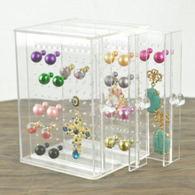 Купить с кэшбэком New Arrival Acrylic Drawer Design Jewelry Box High Quality Earring Jewelry Storage Organizer Pendant Locket Jewellery Stand Case