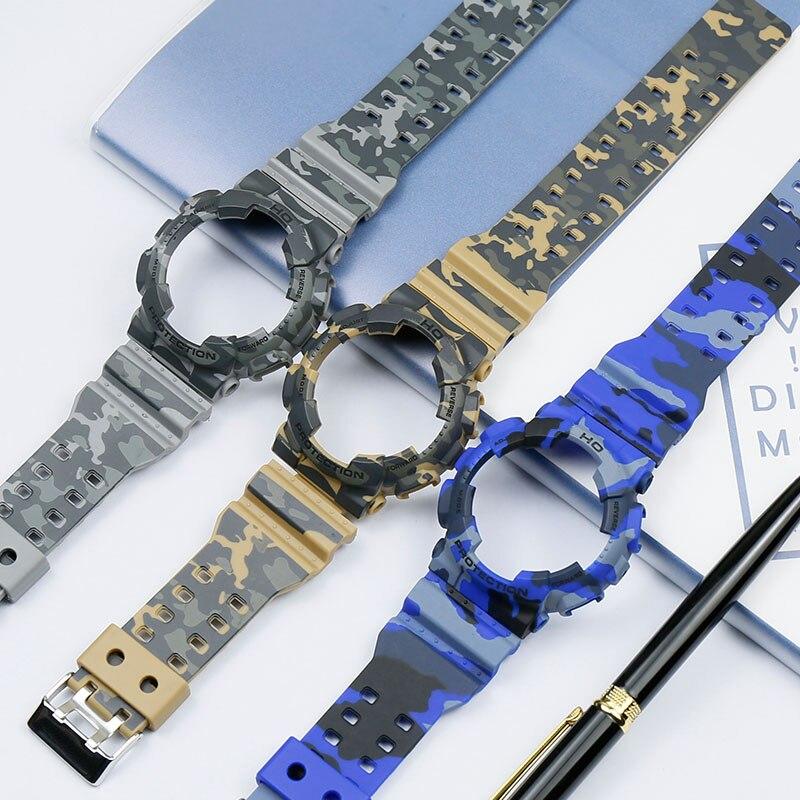 Men's Watch Accessories Camouflage Resin Strap Set For Casio G-SHOCK GA-110 GA-100 GD-120 Women's Sports Waterproof Rubber Strap