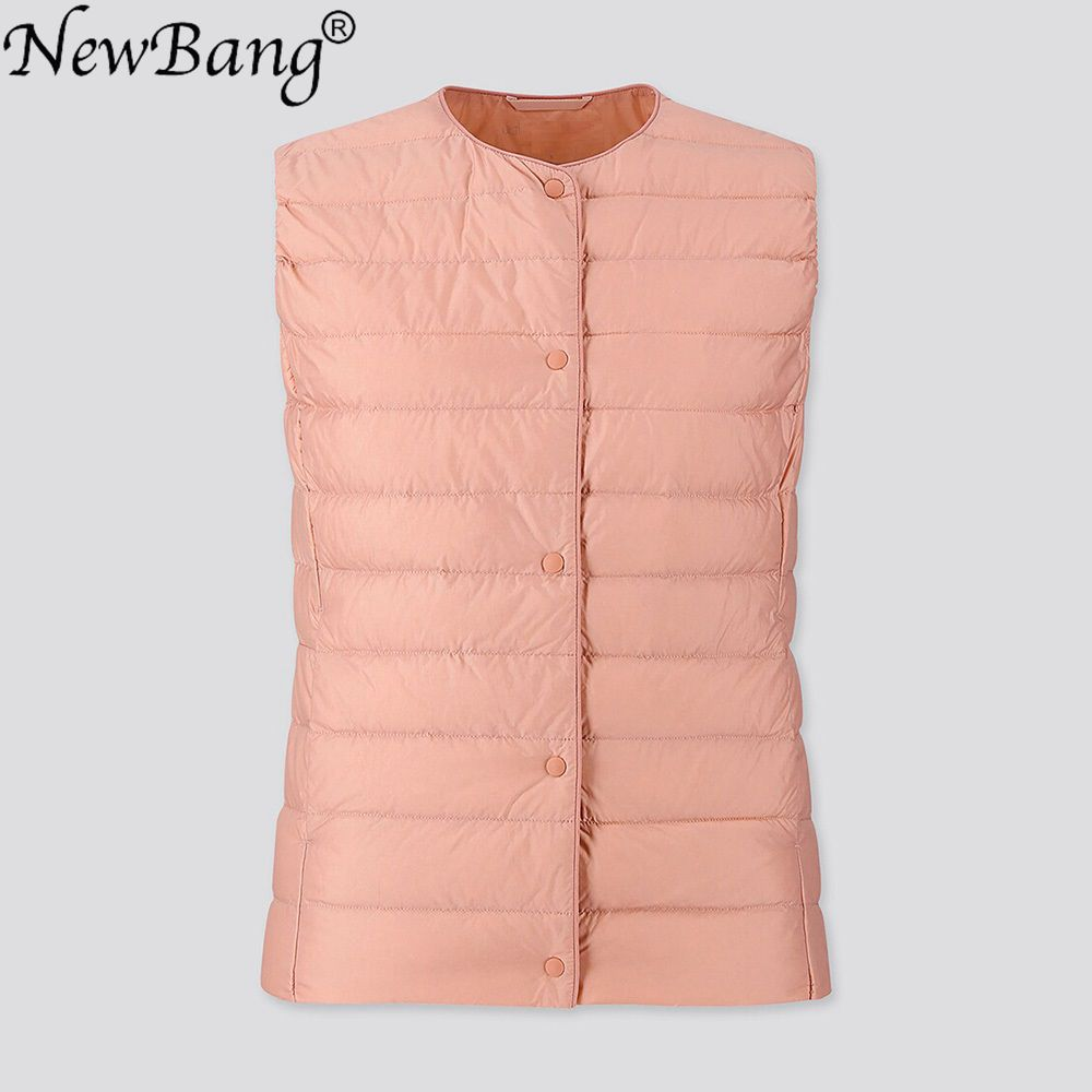 NewBang Women's Warm Vests Ultra Light Down Vest Women Matt Fabric Waistcoat Portable Warm Sleeveless Winter Liner