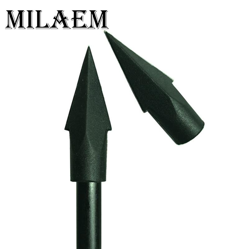 12pcs Archery Broadhead Target Arrow Head Rubber Blunt Target Point Arrowhead Field Tip For Carbon Fiberglass Bamboo Wood Arrow