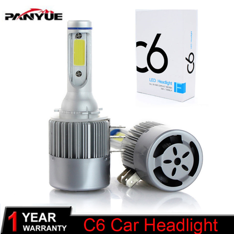 PANYUE Auto 2x H15 LED Bulb 72W 7600LM Wireless Car Headlight Lamp DRL Conversion Driving Light Sourcing 6000K For VW Audi BMW недорго, оригинальная цена