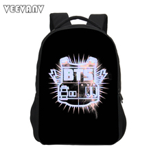 VEEVANV 2017 BTS Printing Children Backpacks Fashion School Backpacks for Teenagers girls Shoulder Bags Casual Travel Bags Boys