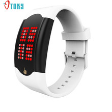 Fashion Young Women Men Sport WatchesTouch LED Silicone Wristband Watch Creative Apr21