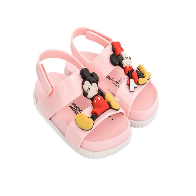 Melissa Ultragirl Mickey 2019 New Summer Boy Girl Jelly Shoes Girls Non slip Sandals Kids Beach Sandal Toddler Shoes