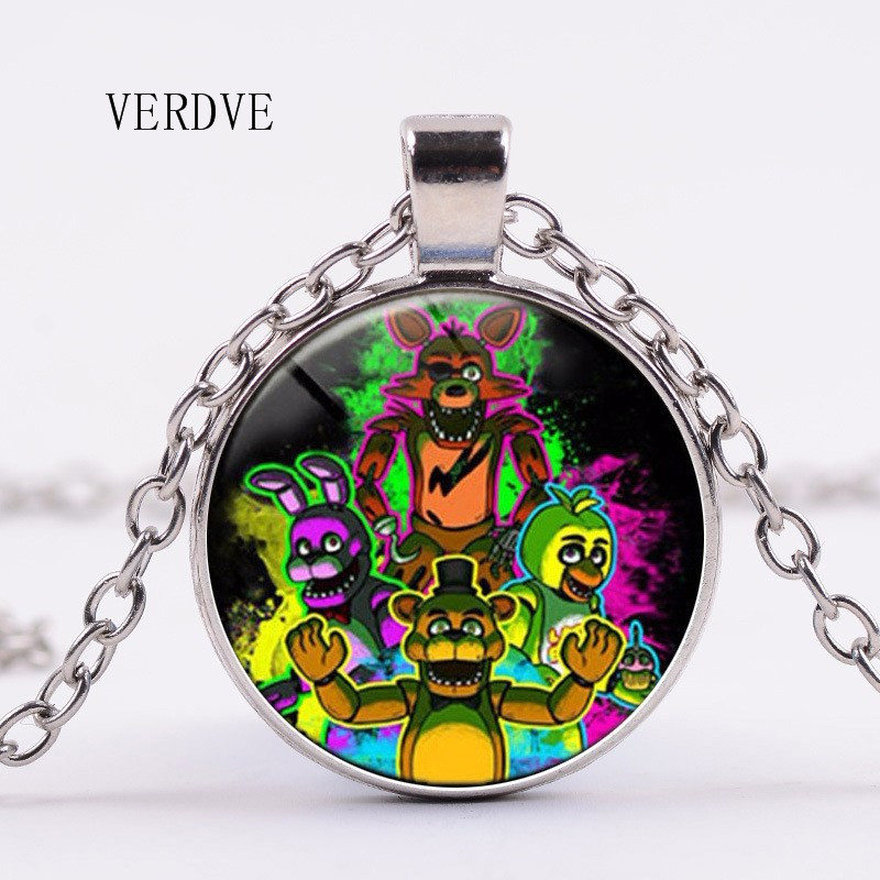 VERDVE 2018 Free Shipping New 3 Color 5 Freddy Necklace Toy Pendant Necklace Glass Childrens Gifts