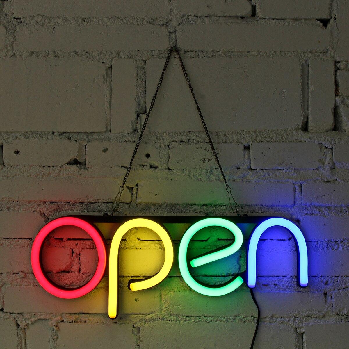 16'' OPEN Neon Sign LED Light Tube Handmade Visual Artwork Bar Club KTV Wall Decoration Commercial Lighting Colorful Neon Bulbs