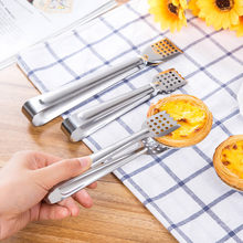 S/L Stainless Steel Food Tongs bread Cake clip Pastry Clamp Kitchen Utensils Gadgets BBQ Meat Steak Cooking Serving Tong(China)