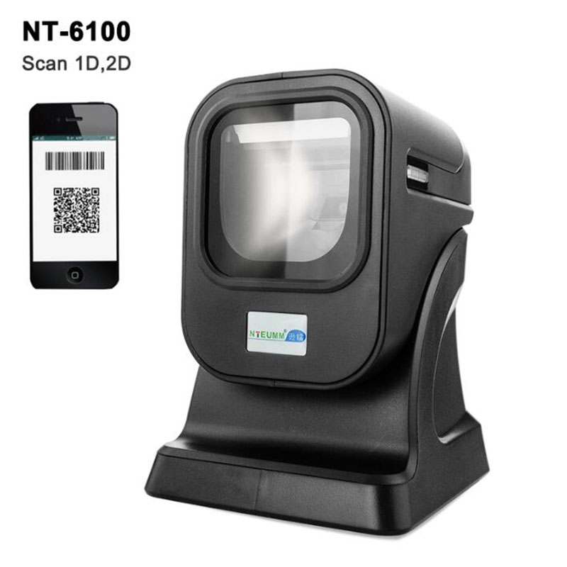 New Image 2D Omni-directional Barcode Scanner Desktop Barcode Reader for all 1d and 2d barcodes Flatbed Barcode Scanner NT-6100 цены онлайн