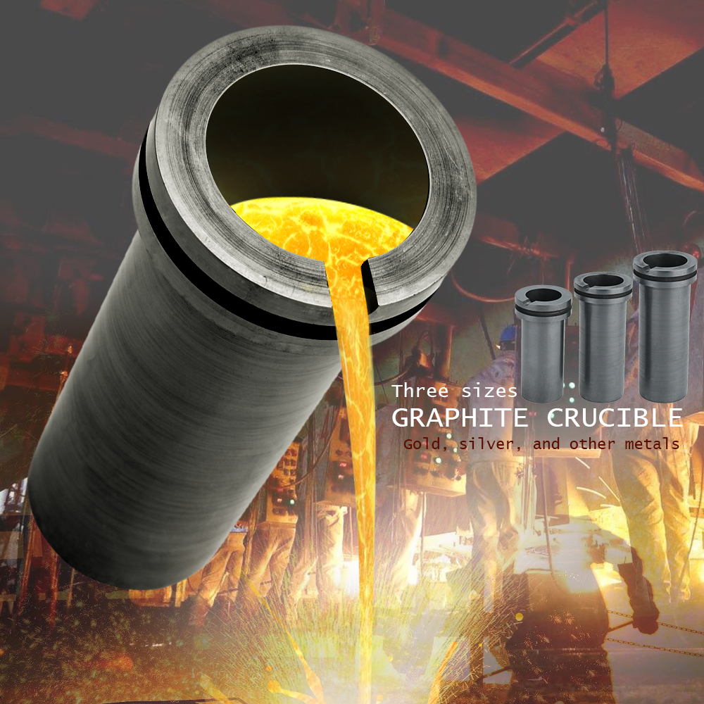 High-purity Melting Graphite Crucible Non-stick pan for High-temperature Gold and Silver Metal Smelting Tools Long service life green plastic gold pan with two types of riffles set of 3 gold pan and one sifter