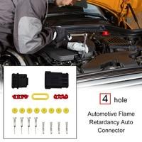 4Pin Automotive Flame Retardancy Auto Connector Plug Waterproof Replacement Assemblies Professional Motorcycle Machine 1Set