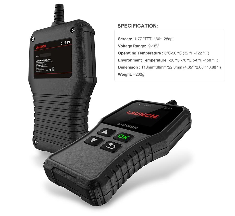 HTB1 MFna0zvK1RkSnfoq6zMwVXaO Launch X431 Creader 319 CR3001 Full OBD2 OBDII Code Reader Scan Tools OBD 2 CR319 Car Diagnostic tool PK AD310 ELM327 Scanner