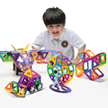 MINI 168PCS Magnetic Designer Enlighten Educational Toys For Children 3D DIY Plastic Models & Building Blocks Toys For Kids