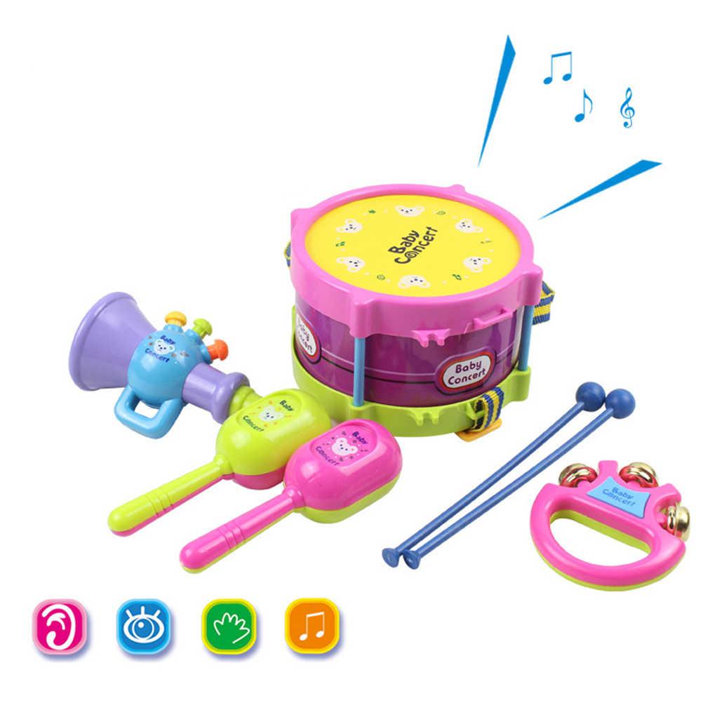 5 個音楽玩具セット把握ハンドベル音楽のおもちゃ楽器バンドキット教育玩具子供のギフト