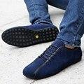 2016 Nuevo Otoño de Los Hombres Zapatos de Gamuza de Cuero Masculino de La Manera Ocasional Zapatos Planos Respirables Iluminadas Zapatos Para Adultos Zapatillas de Ventas