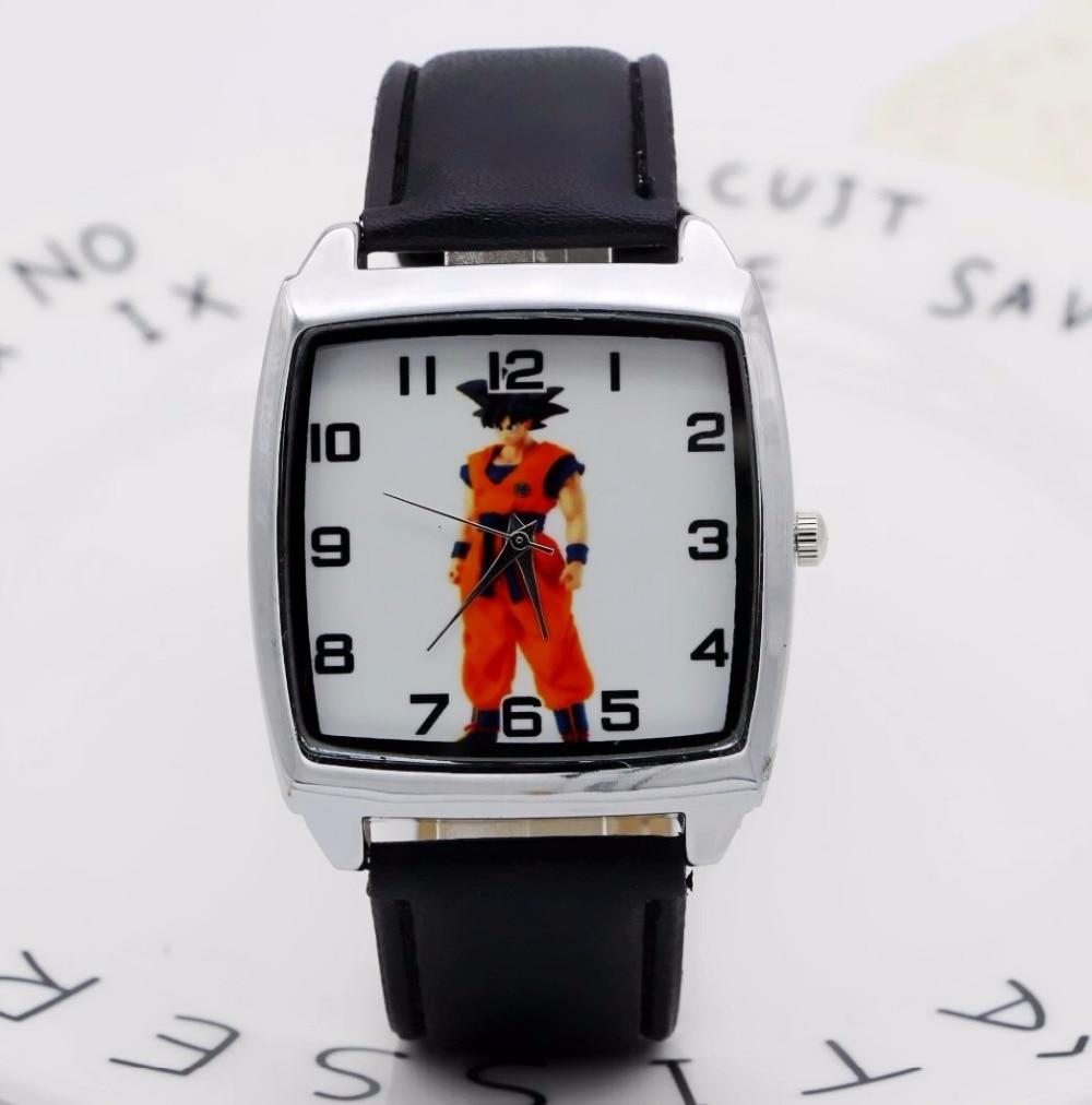 Leather Cartoon 1pcs/lot Wholesale NEW Cartoon Children Dragon Ball Watch Good Gift Kids Watch