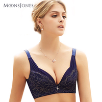 Grote brasserie volledige cup plus size brasserie push up 44 size beha sexy dunne kant intimates bras voor vrouwen T103