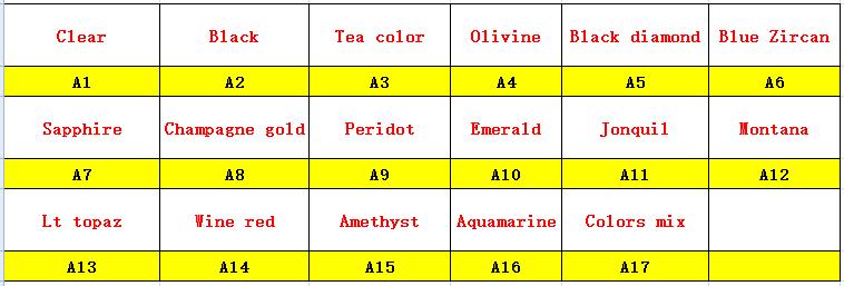 Square silver claw A1-A17
