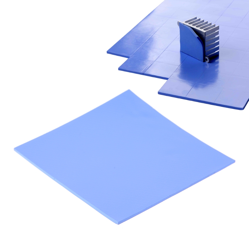 1Pc 100x100x1mm/100x100x2mm <font><b>GPU</b></font> CPU Thermal Pad Silicone Heatsink Cooler Conductive Pads image