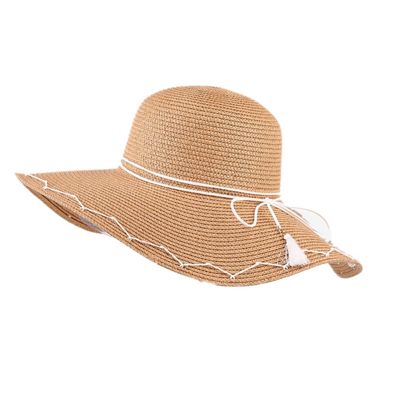 Лидер продаж! Анти-солнце сторона соломенная шляпа лето экономит женщина полями пляж женский полями солнцезащитный крем Рыбалка Спорт Руко...