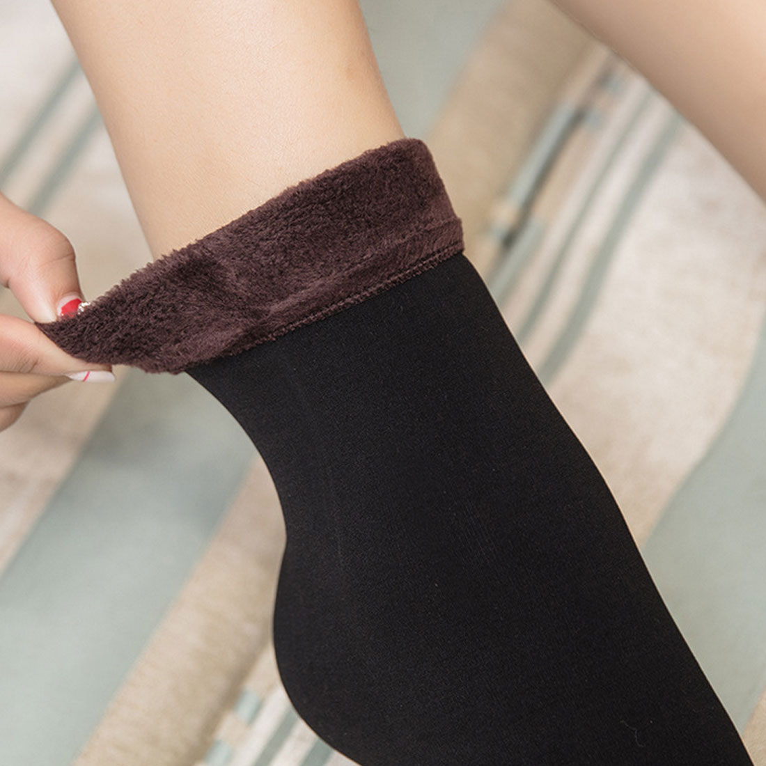 Hot 1 Pair Women Socks Winter Warm Thicken Socks Wool Home Snow Boots Cotton Socks Female Winter Velvet Floor Socks