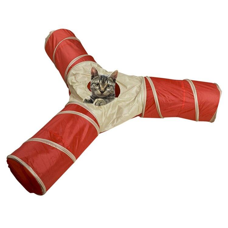 החדש Y צורה 3 דרך מתקפל לחיות מחמד כלב ארנב חתול מנהרת חיצוני מקורה מעבר תינוק צעצוע Play & תרגיל