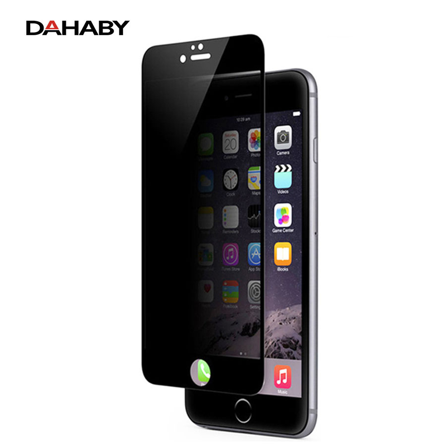 DAHABY Privacy Anti-glimpse Full cover Screen Protector 360 Degree High Transparent Tempered Glass for iPhone 6 6s Plus 7 7 plus