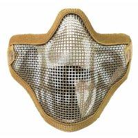 Taktik hayalet Mesh Airsoft maskesi Paintball yarım yüz koruma Strike stil açık