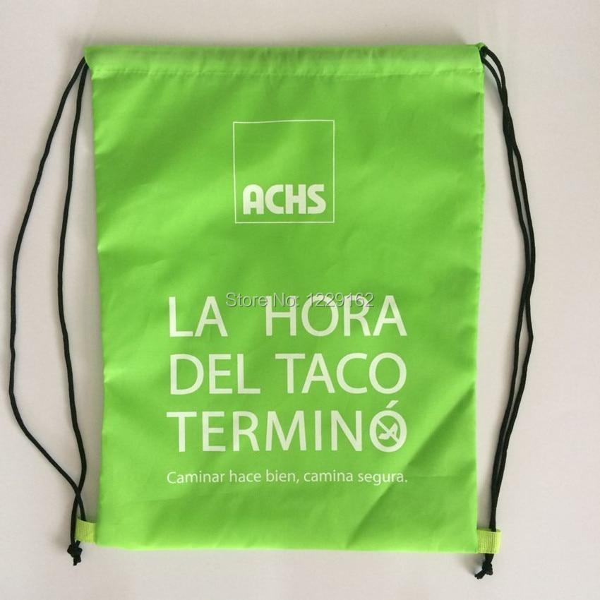 Impresión personalizada bolsa con cordón de poliéster (300 unids/lote) 30x40 cm bolsa de regalo promocional zapatos bolsa de almacenamiento mochila con cordón - 3