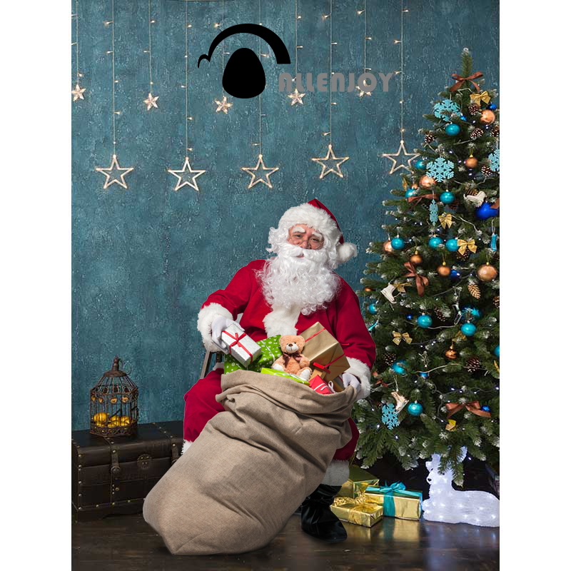 Allenjoy Christmas backdrop Christmas tree stars decoration children background background for photo vinyl for photography