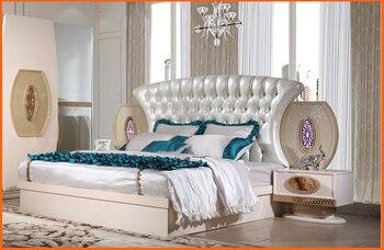 Conjunto de diseño de muebles de dormitorio Real nuevo de cuarzo gran calidad a bajo precio cama King Size, mesita de noche, armario, vestidor, juego de dormitorio